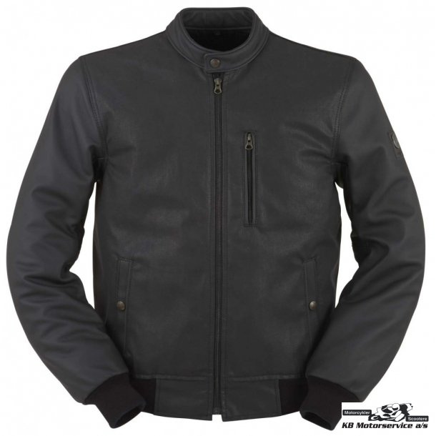 Furygan Clark jakke læder/denim Oil-vokset.
