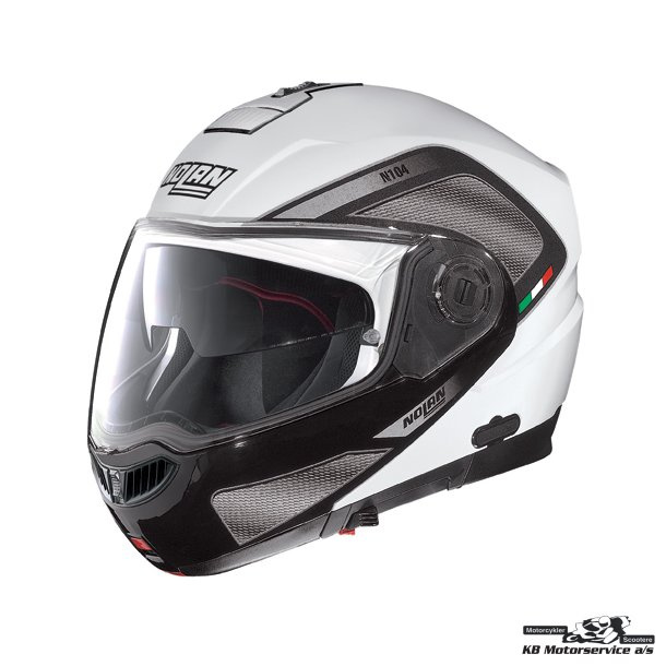 N104 EVO Tech N-COM Metal White. Medium