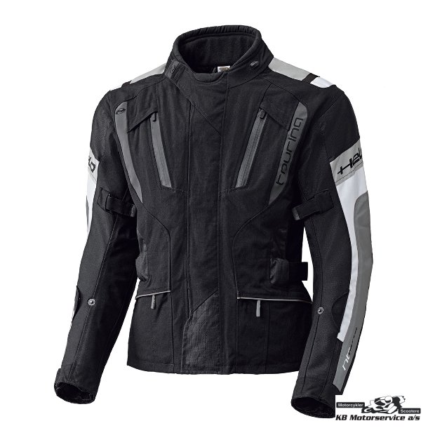 Held 4-Touring jakke sort/hvid/grå. Lang model