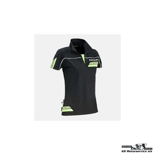 Kawasaki Polo-shirt sort/grøn L/XL