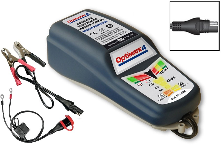 Optimate 4 Dual (canbus ready) batterilader - Udstyr MC - KB Motorservice A/S